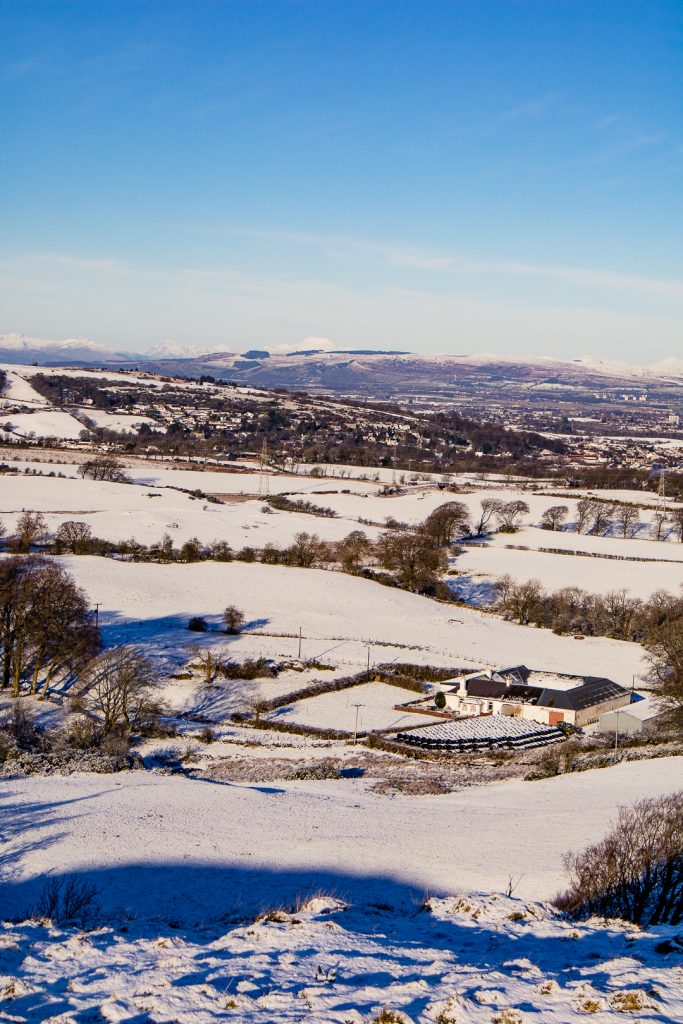 Views from the top of Duncarnock Fort Hike in Glasgow