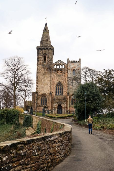 The older part of Dunfermline Abbey.