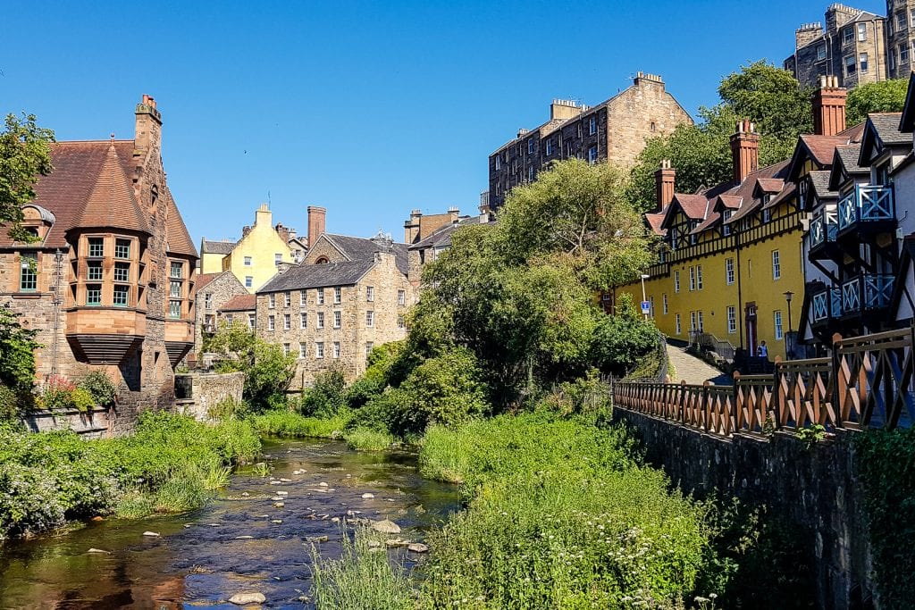 Dean Village in Edinburgh.