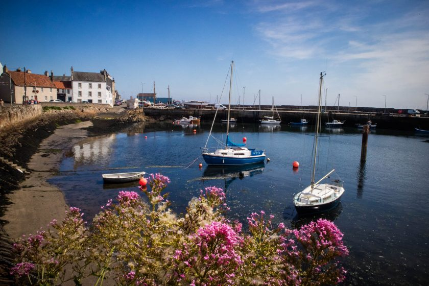 Harbour in Pittenweem in Scotland