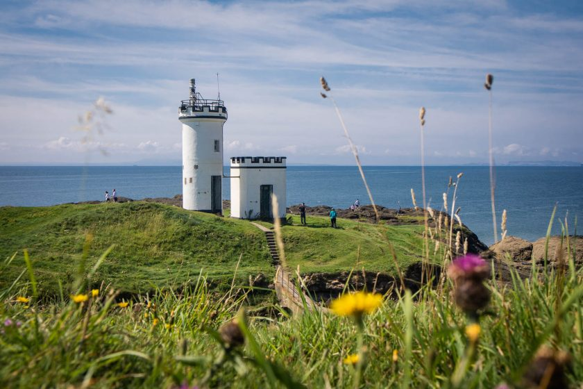 Elie Ness Lighthouse on the Fife Coastal Path