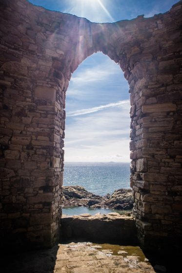 View from the window of the Lady's Tower in Elie in Scotland