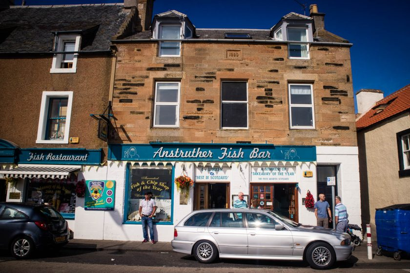 The famous Anstruther Fish Bar in Scotland.