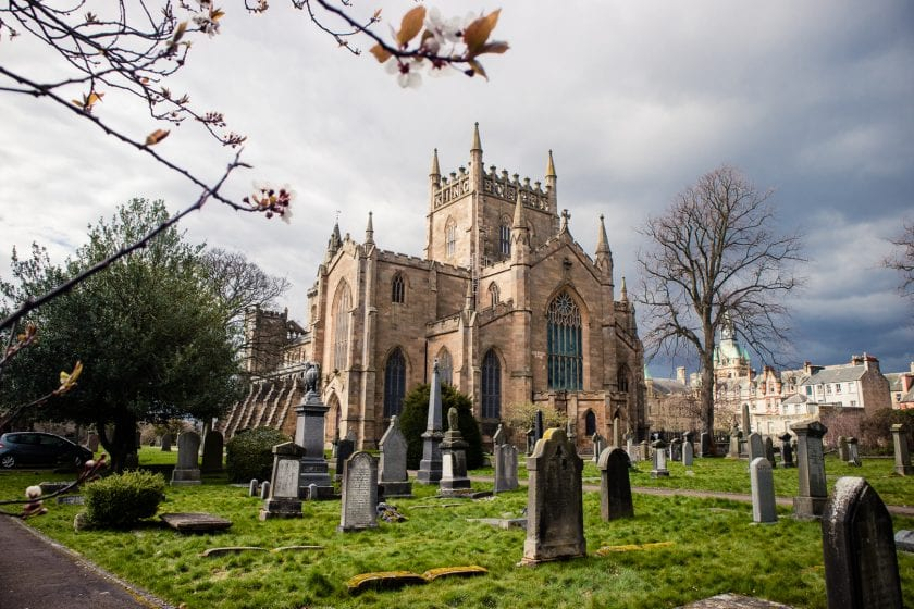 Dunfermline Abbey in Fife, Scotland.