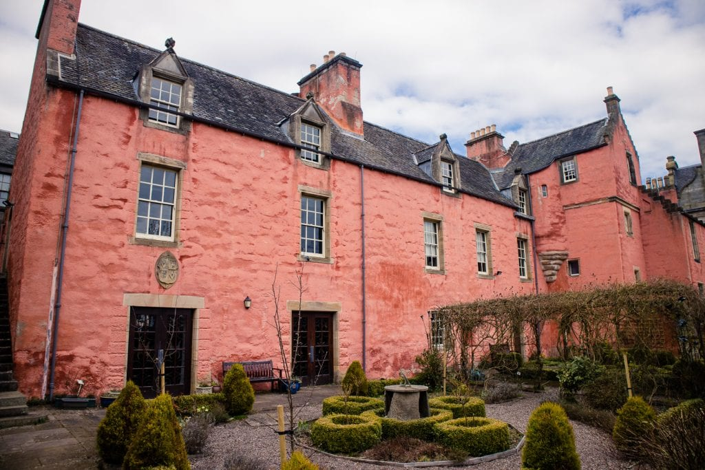 The beautiful Abbot House in Dunfermline.