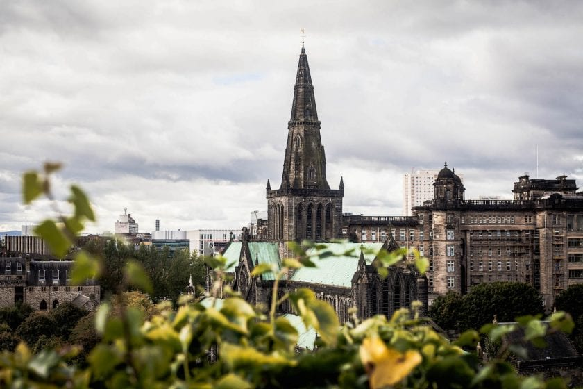 Glasgow Cathedral from the Victorian Necropolis cemetery