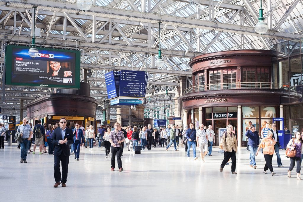 The Glasgow Central Station tour.