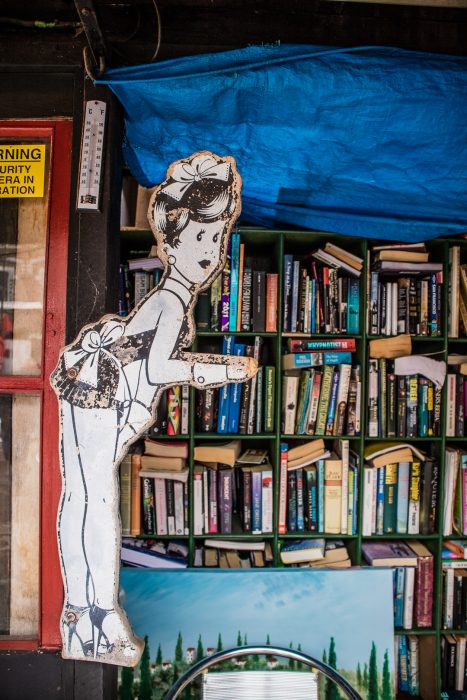 Second hand book shop at the Barras in Glasgow.