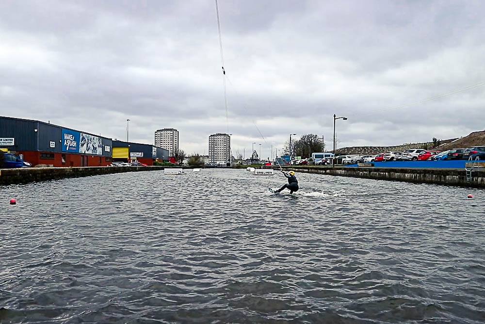 Wakeboarding at Glasgow Wake Park