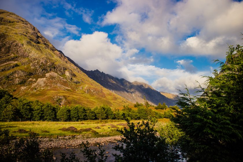 Glencoe mountains in Scotland