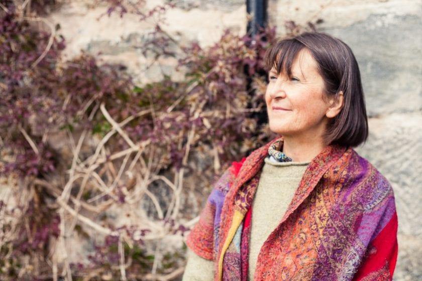 Basket weaver Helen Jackson.