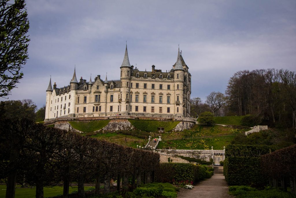 Dunrobin Castle on the North Coast 500 in Scotland
