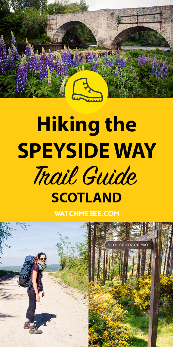 A thorough hiking guide to walking the Speyside Way in Scotland incl. day-to-day route description, suggested B&Bs, a packing list & tips for the trail!