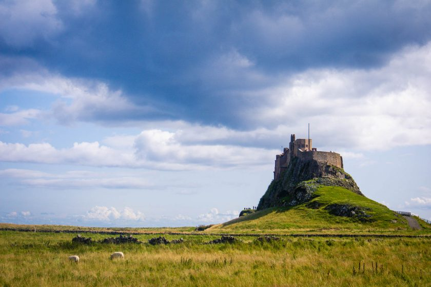 Lindisfarne Castle on the Holy Island in Northumberland.