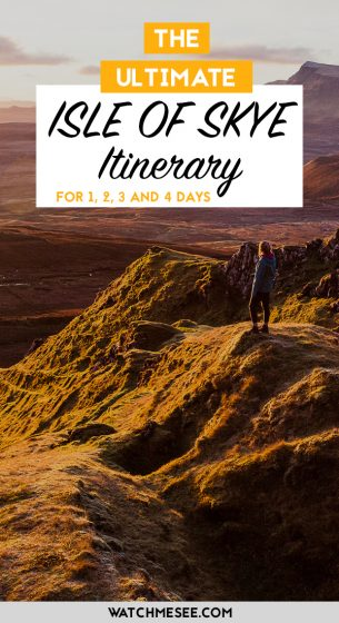 Planning a trip to the Isle of Skye? Use my ultimate Isle of Skye itinerary to figure out how to spend 1, 2, 3 or 4 days on the island. Get the most out of your visit to Skye, make sure you see the iconic sites like the Fairy Glen in the Quiraing mountains or Neist Point lighthouse, but also spend some time off the beaten track. A must-read for a Scotland road trip!