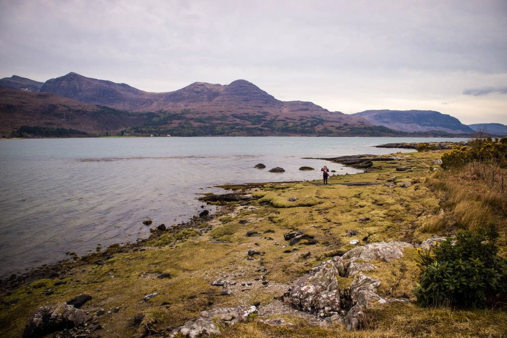 Mountain and sea views in Torridon in Scotland