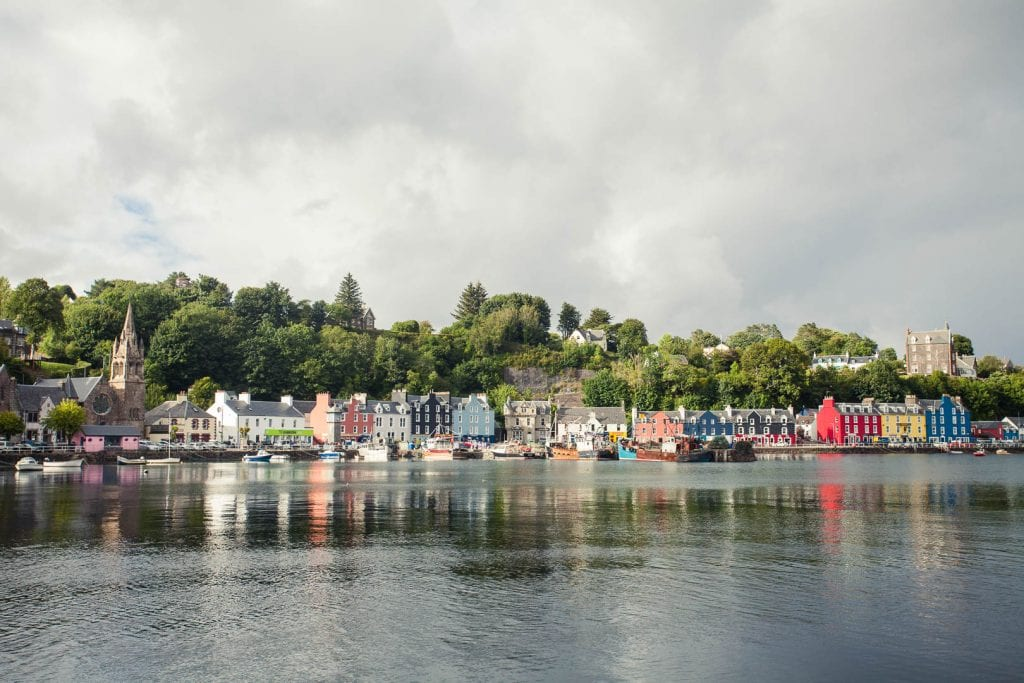 The colourful waterfront of Tobermory on the Isle of Mull.