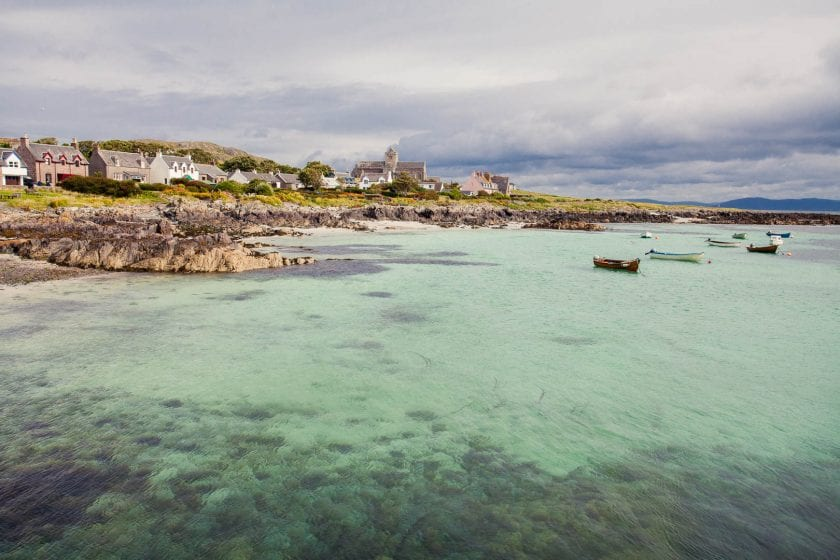 Crystal clear water in the bay of the Isle of Iona.