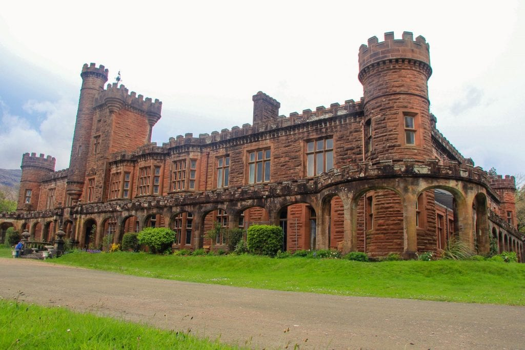 This photo shows Kinloch Castle on the Isle of Rum.