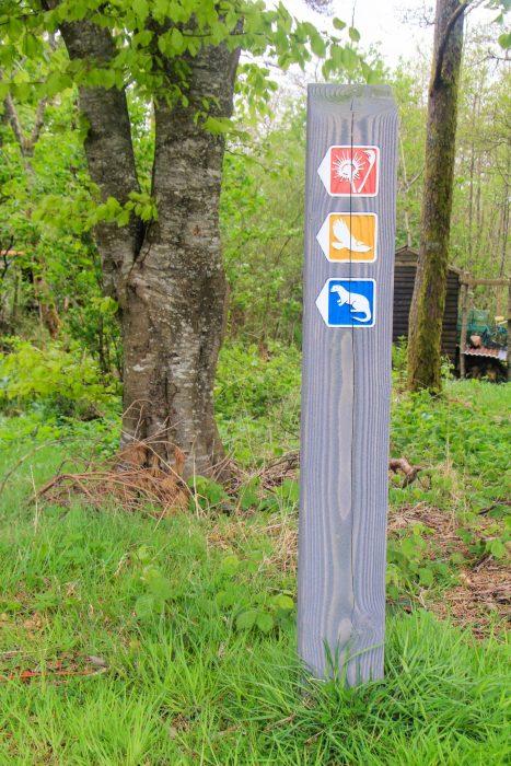 Trail markings on the Isle of Rum.