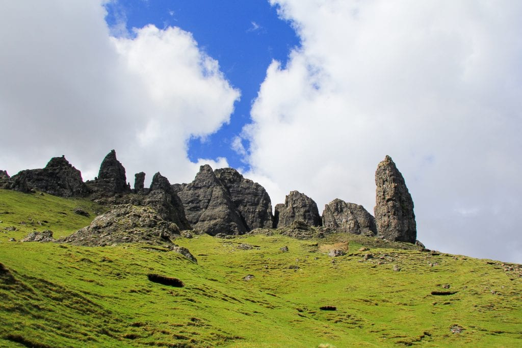 The Old Man of Storr on the Isle of Skye in Scotland.