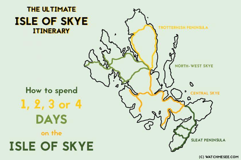 Isle of Skye itinerary map