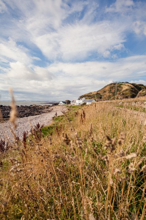 A picturesque waterfront cottage by the coast near Johnshaven in Aberdeenshire