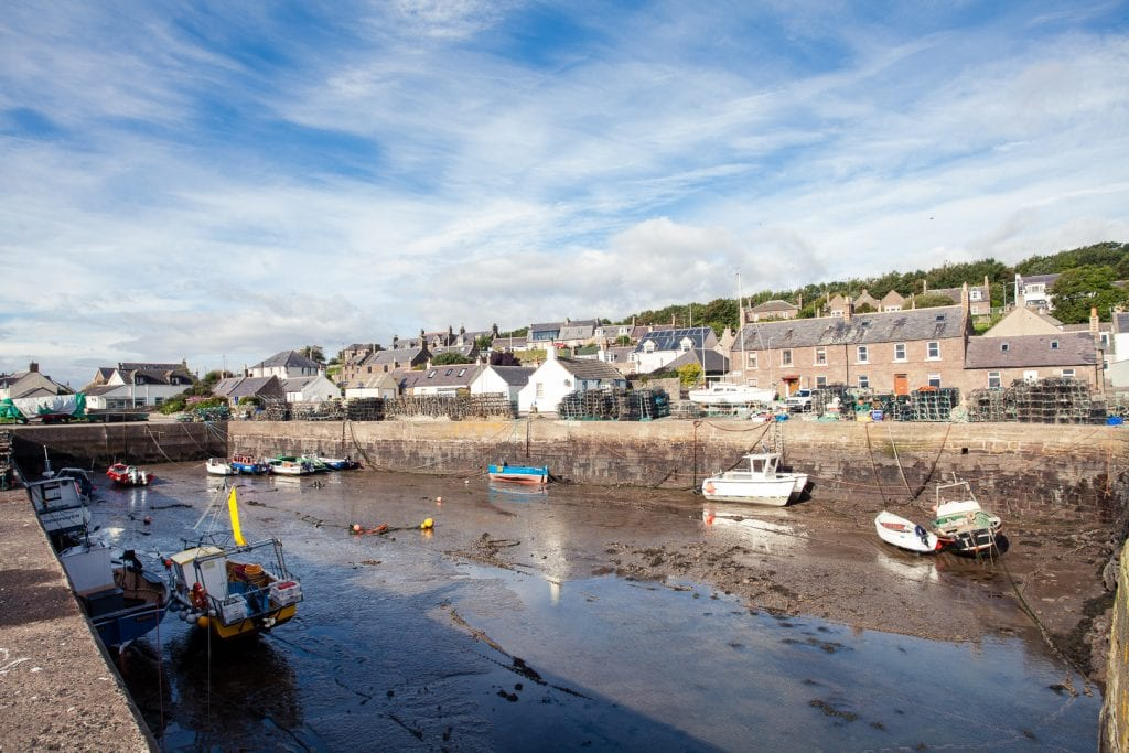 The harbour of Johnshaven in Aberdeenshire.
