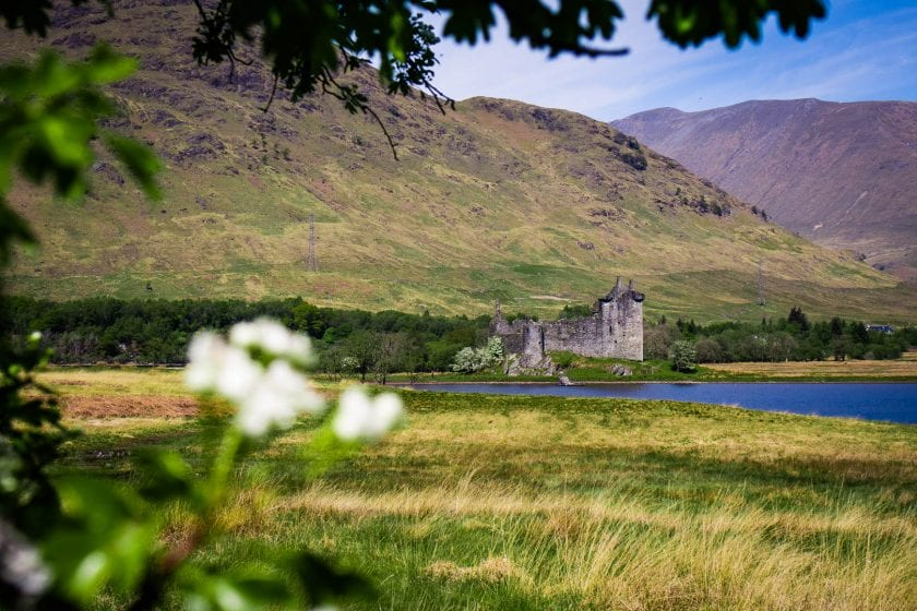 Kilchurn Castle ruin in Scotland