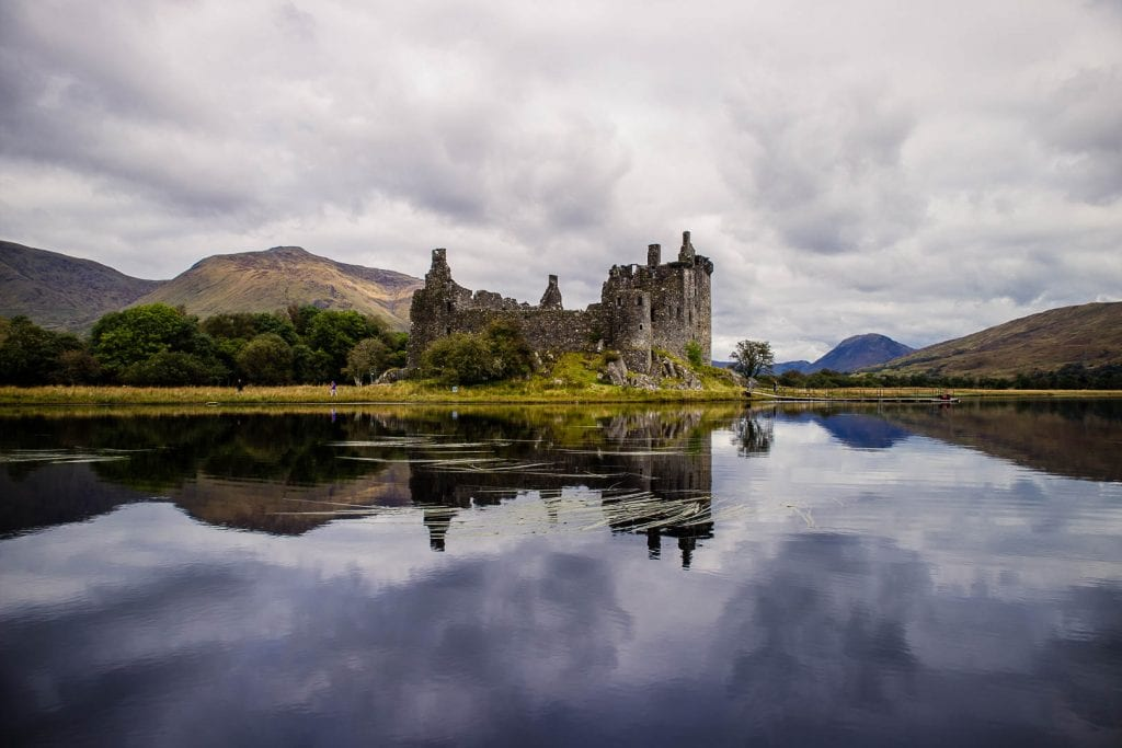 Kilchurn Castle on the banks of Loch Awe