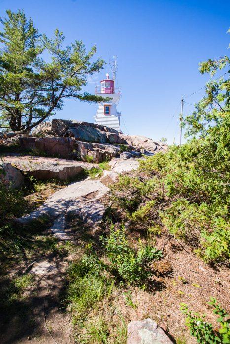 Eastern lighthouse in Killarney, Ontario.
