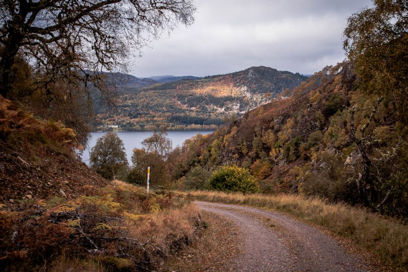 Hiking to Knockie Boathouse on Loch Ness in Scotland.