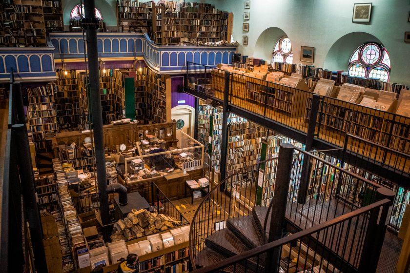 Leakey's Bookshop in Inverness, Scotland