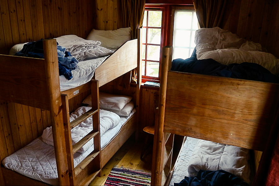 Bunk beds at Loch Ossian Youth Hostel