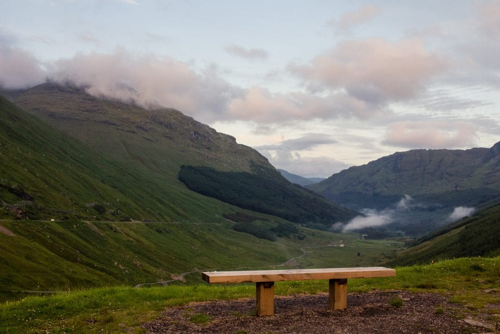 The Rest & Be Thankful viewpoint in Argyll.
