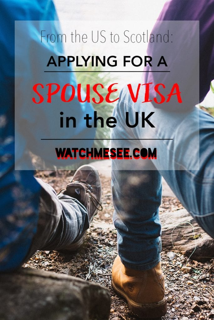 Moving from America to Scotland: Applying for a Spouse Visa in UK   Watch Me See   Uprooting your life and resettling in Scotland: when you're in love, you want to be together and start a whole new life of adventures. But what if one of you is British and the other is American? This guide for moving from America to Scotland includes everything you need to know when applying for a spouse visa in UK!