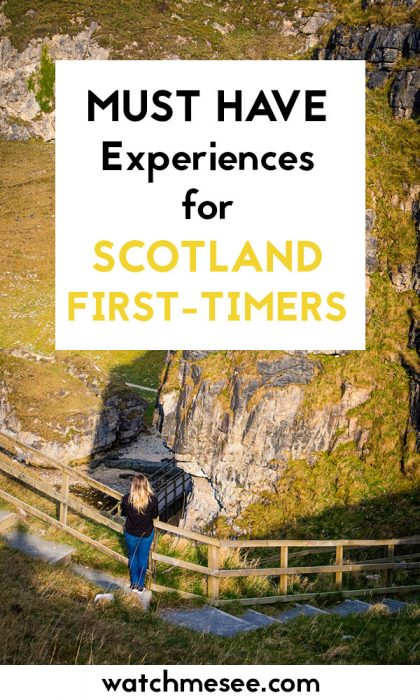 Visiting Scotland for the first time? Make sure you bring this checklist of 20 essential first timer's experiences in Scotland! All the things you must taste, feel, do and see before you leave Scotland.