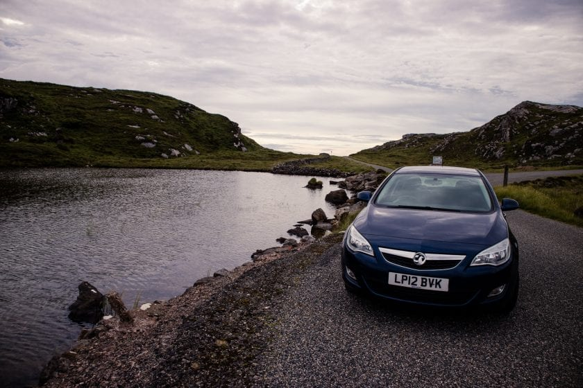 My rental car from Mackinnon Self Drive on the Isle of Lewis