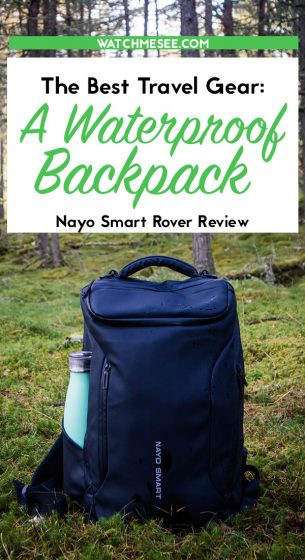 A waterproof daypack is the ultimate item for your Scotland packing list. Read on for a review of the Nayo Rover travel packpack.