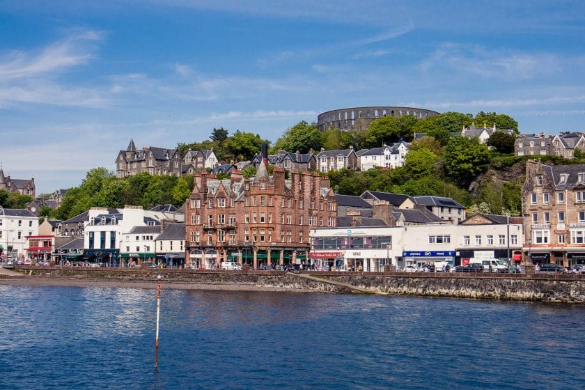 Oban harbour in Scotland