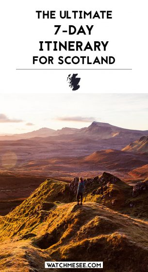Scotland might be small, but if you look closer it seems hard to fit your entire bucket list into a week-long holiday! This complete 7-day itinerary for Scotland includes an ideal route for Scotland in one week, recommended activities, restaurants and accommodation and more tips to make this a trip of a lifetime!