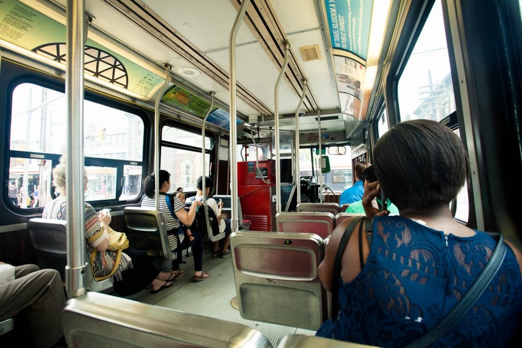 People watching on a streetcar in Toronto - 30 things to do in Toronto - Photo by Kathi Kamleitner