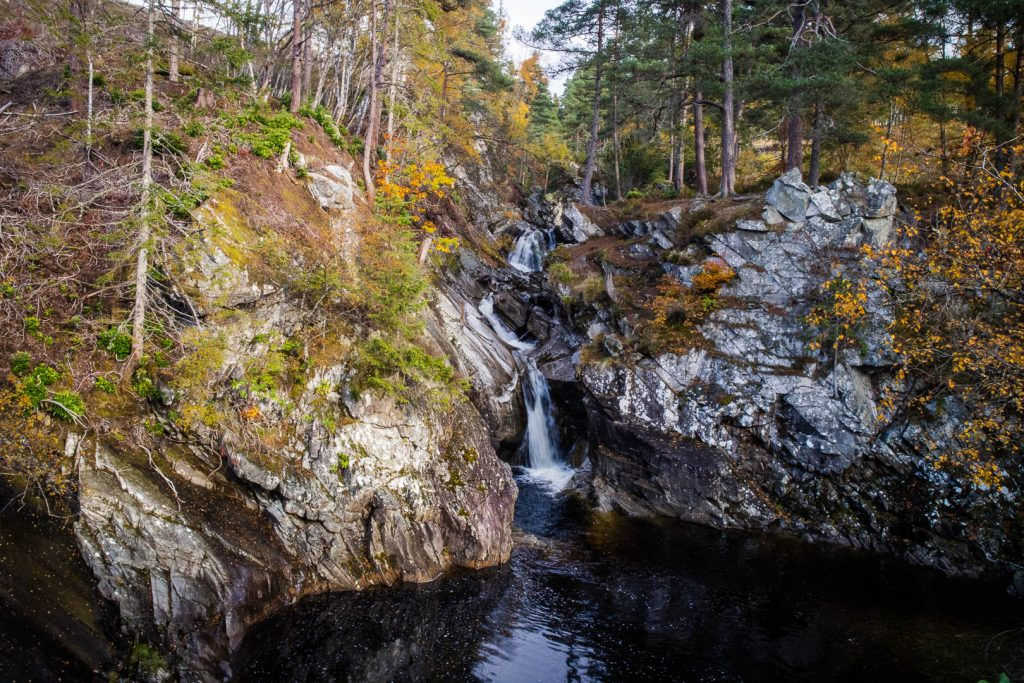Falls of Bruar waterfall in Perthshire