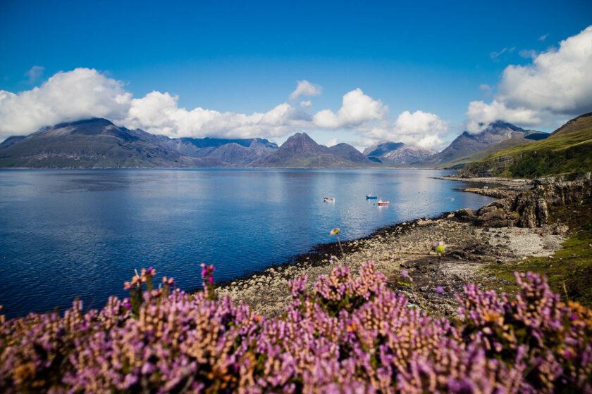 Elgol on the Isle of Skye in Scotland
