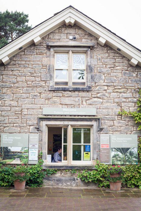 The entrance to the Royal Botanic Garden in Edinburgh.
