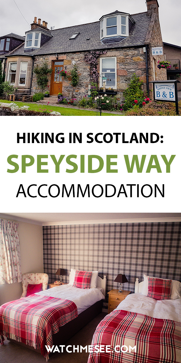 Walking the Speyside Way and looking for places to stay? This is a guide to recommended Speyside Way accommodation from hotels to B&Bs & hostels!