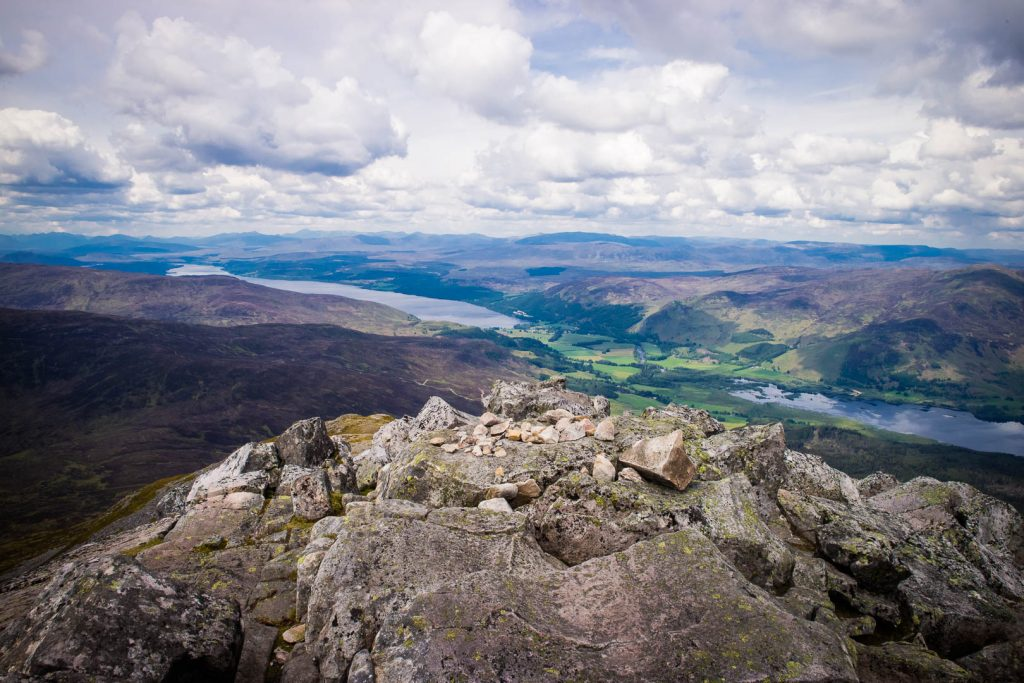 View from the summit of Schiehallion, one of my favourite Scottish Munros for beginners.