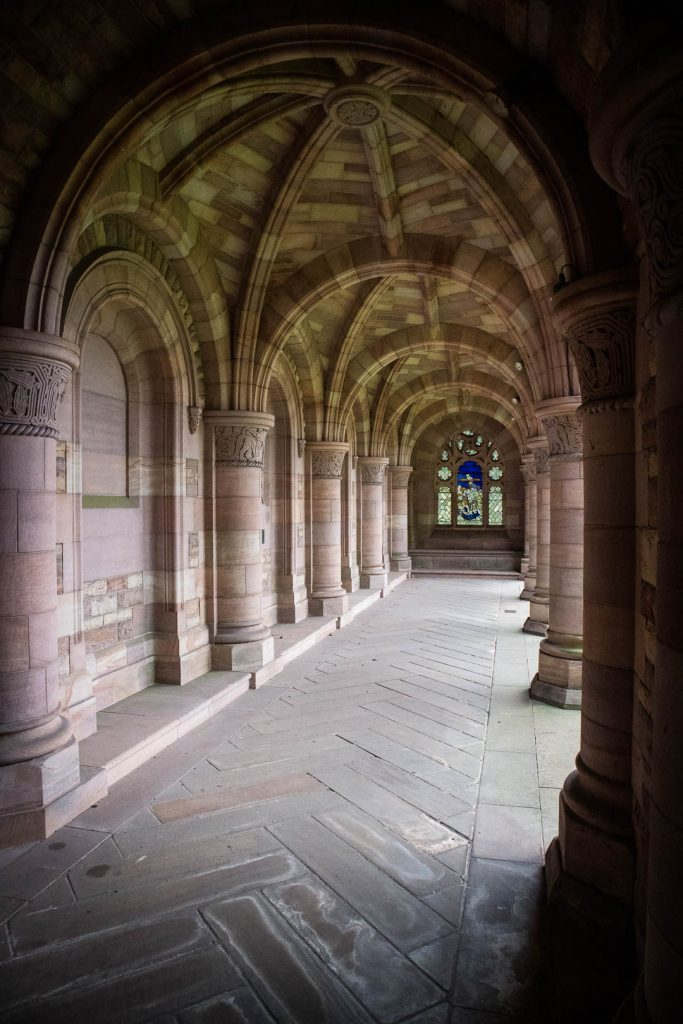 Cloister at Kelso Abbey in the Scottish Borders