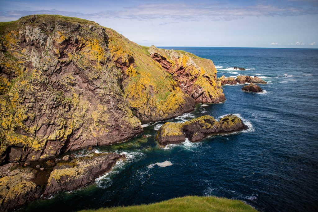 Walk to St Abbs Head in Scotland