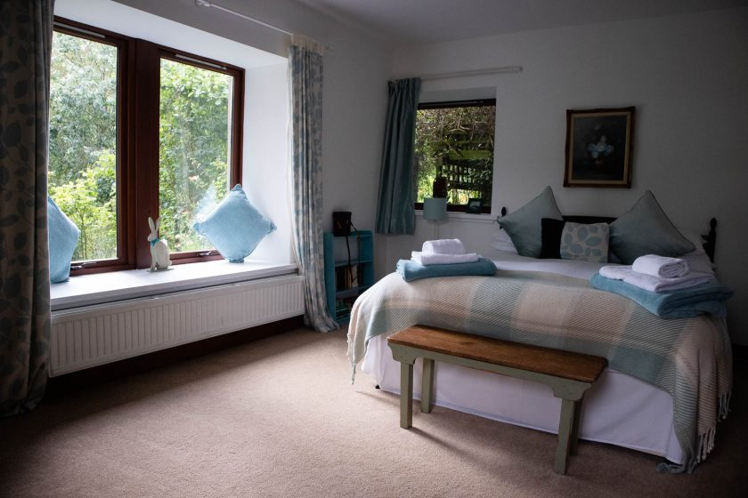 A bedroom at The Old Paper House holiday home in Melrose
